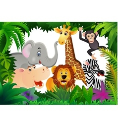 safari animal cartoon vector image