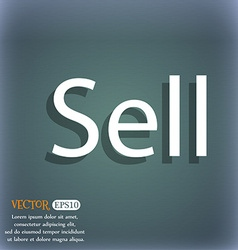 Sell sign icon contributor earnings button on the vector