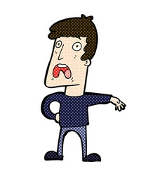 Comic cartoon complaining man vector