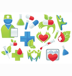 Medicine and health-care symbols vector
