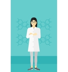 Female laboratory assistant vector