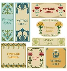 Vintage style labels set vector