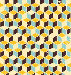 Abstract geometric retro background vector