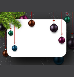 background with colorful christmas balls vector image vector image