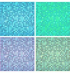 Background with squares set vector image vector image