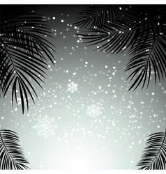 Christmas and New Year with Palm Leaves in vector image vector image