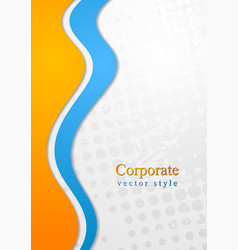 Colourful corporate waves design vector image vector image
