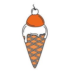Delicious ice cream isolated icon vector