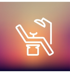 Dental chair thin line icon vector image vector image