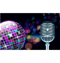 Disco ball with microphone vector