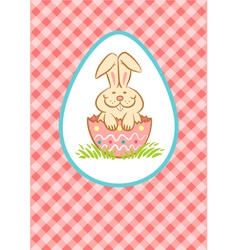 Easter rabbit pink vector