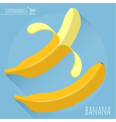 Flat design banana vector image