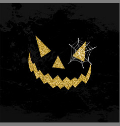 Halloween scary face glitter art concept design vector