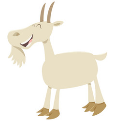 Happy goat animal character vector