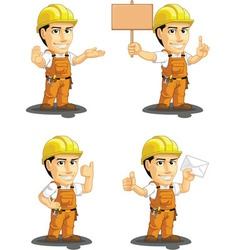Industrial Construction Worker Mascot 4 vector image vector image