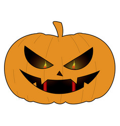 Isolated halloween pumkin vector
