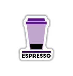Label frames and badges icons coffee emblem cup vector