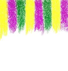 Mardi Gras pastel crayon background vector image vector image