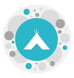 Of travel symbol on tepee icon vector