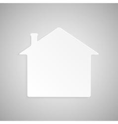 Paper banner design mockup house vector