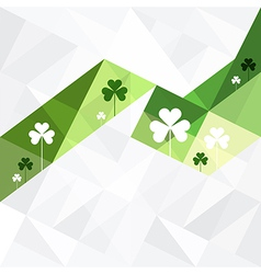 patricks day abstract background clovers vector image vector image