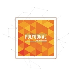 Polygonal design Geometric shape design vector image vector image