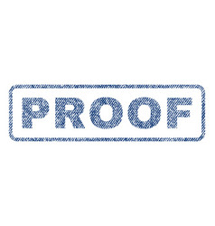 Proof textile stamp vector