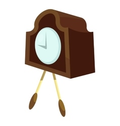 Retro wall clock icon cartoon style vector