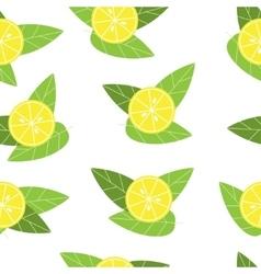 Seamless lemon pattern on white background vector