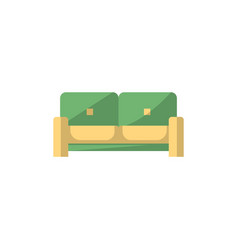 sofa isolated icon in flat style vector image