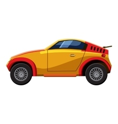 Sport car icon isometric 3d style vector