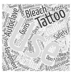 Tattoo safety word cloud concept vector