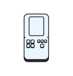 tetris videogame console vector image