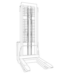 Warehouse forklift wire-frame eps10 format vector
