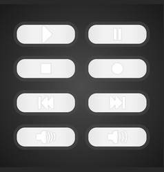 white buttons control music vector image