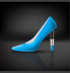 Womens shoe with lipstick heel vector