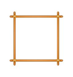 wooden frame in brown design vector image vector image