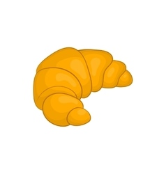 Fresh croissant icon cartoon style vector