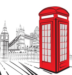 Sketch London City vector image