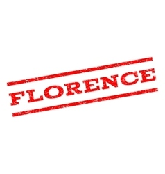 Florence watermark stamp vector