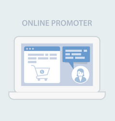 Website chat assistance prompter - online hint vector