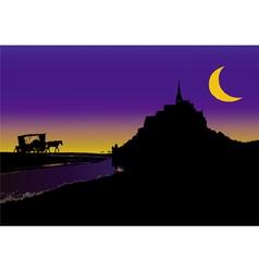 Fable in Mont Saint Michel vector image