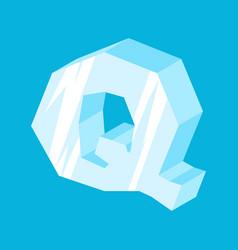 Letter q ice font icicles alphabet freeze vector
