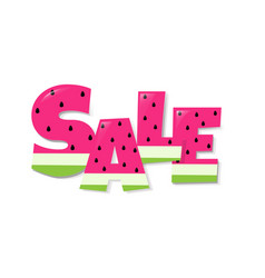 Sale watermelon text vector