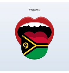 Vanuatu language abstract human tongue vector