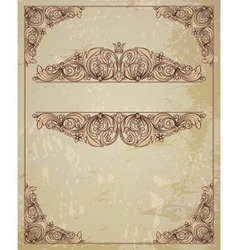 Vintage and certificate vector