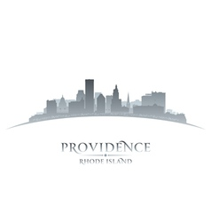 Providence Rhode Island city skyline silhouette vector image
