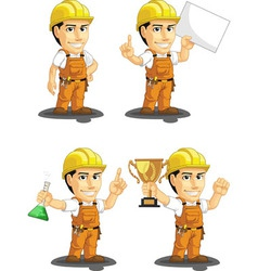 Industrial construction worker mascot 5 vector