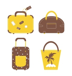 Travel luggage bags and cases collection vector