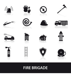 Fire brigade icons set eps10 vector
